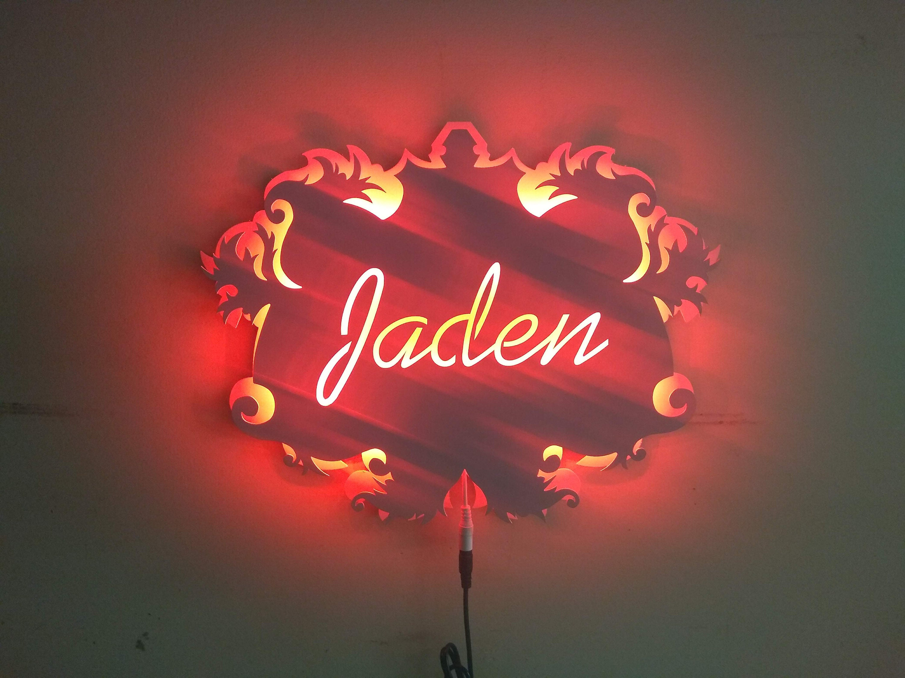 Custom Made Kids Room Led Sign Or Night Light Gallery