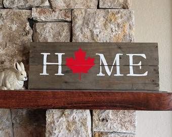 Canada Home Sign, Reclaimed Wood Sign, Canada Artwork, Rustic Canada Sign, Wooden Canada, Wood Canada Sign, Canada Wall Art, Wood Canada Art