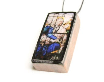 Stained Glass #1 Wooden Pendant
