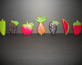Haitian Wooden Fruit Decoration