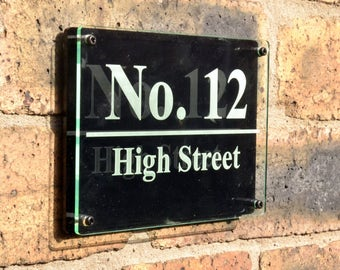 Customisable House Sign - Can be Personalised with your Choice of any Text and Graphics