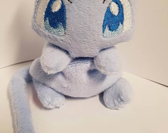 Cutie plush Mew (regular or shiny, normal or larger sized) - MADE TO ORDER