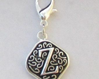 Vintage  Letter Z  Dangle  Lobster Claw for Necklace - Bracelets - Key Chains