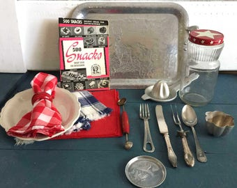 Americana Picnic, 4th of July Vintage Photo Props, Food Blog, Food Bloggers, Vintage Photo Props, Fourth of July