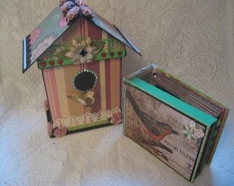 TUTORIAL Scrapbook Mini Album in a Birdhouse Set (PDF Download PLUS links to videos) Photo Album