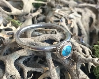 Sterling Silver Apatite Ring One of a Kind Size 7 1/2