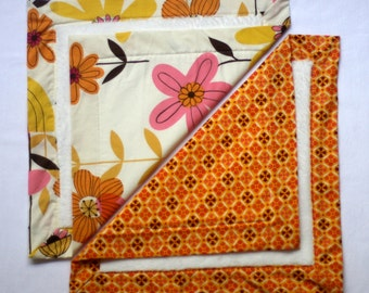 Small Baby Blankets- Orangesicle
