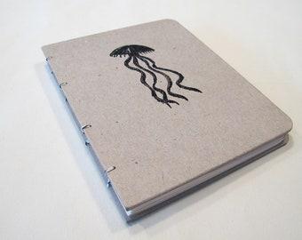 Jellyfish Handmade Journal Notebook: Hardbound Coptic Small Book