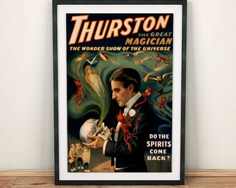 Thurston the Magician Magic Vintage Poster