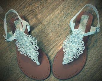 Rhinestone Bridal Sandals Flip Flops