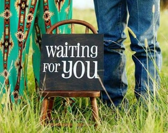 Waiting for You: Pregnancy Announcement Photo Prop
