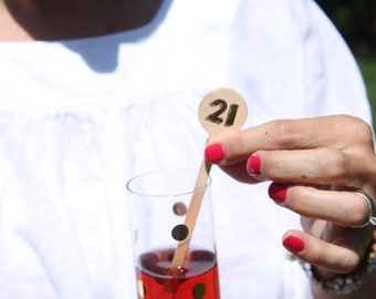 Milestone Birthday Drink Stirrers 21, 30, 40