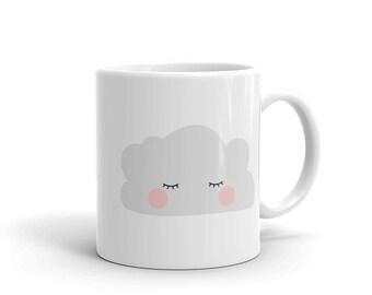 cloud cartoon mug, cloud coffee cup