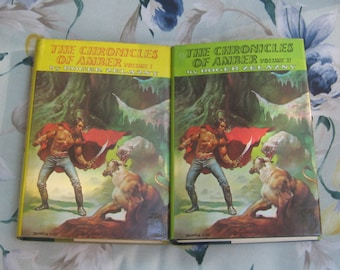 Volumes 1 and 2 The Chronicles of Amber by Roger Zelazny Doubleday Publishing