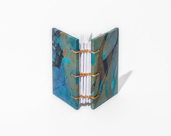 Tiny Tsunami Journal | Freeform Marble, Coptic Stitch