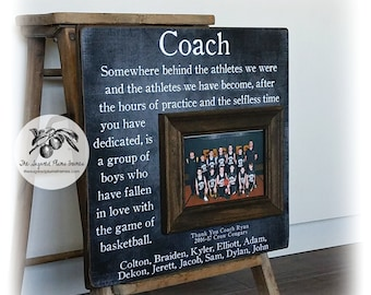 Basketball Coach Gift, Coach Thank You Gift, Coach Frame, 16x16 The Sugared Plums Frames