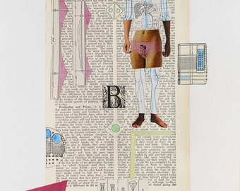 Mixed Media Art Print - Boy Book Girl