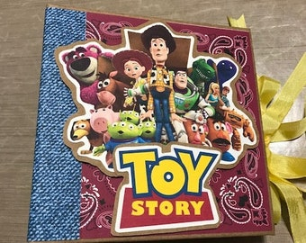 Toy Story Themed Mini Scrapbook Album Complete Just add Pics