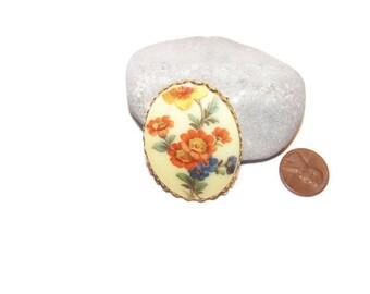 Vintage Floral brooch, Flower brooch, Gift for her, Vintage brooches