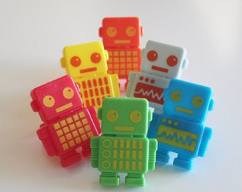 Robot Party Cupcake Rings