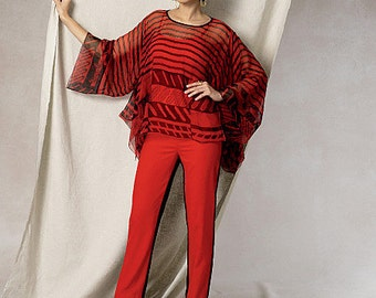 Vogue Sewing Pattern V1491 Misses' Handkerchief-Hem Tunic and Pants