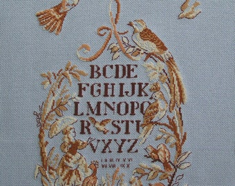 Primer birds cross stitch Embroidery