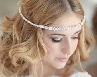 Bridal headdress wedding bridal forehead band browband - Derwent design