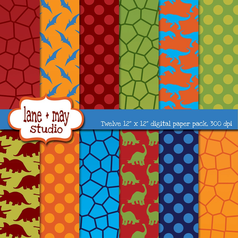 Digital scrapbook papers red blue orange and green zoom jeuxipadfo Image collections