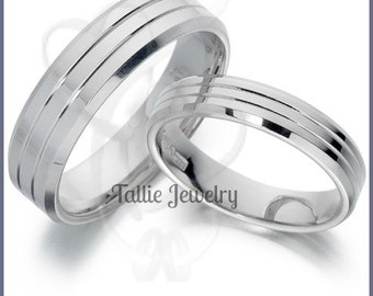 14K His and Hers Bands TallieJewelry