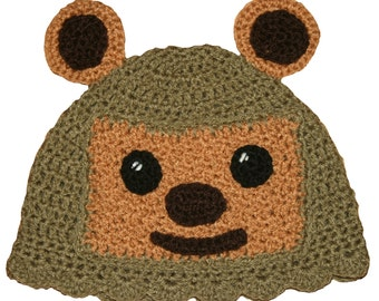 Star Wars Inspired Hand Crocheted Ewok Hat  HH154