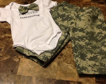 Soldier in training acu outfit