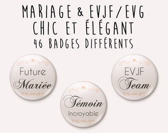 Wedding Chic badge / Elegant - individually
