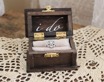 I Do Ring Bearer Box/Ring Bearer Alternative/ Ring Box/ Unique Ring Bearer Box