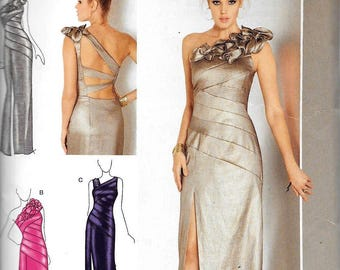 Simplicity 0282 Misses Evening Dress Back Variations Sewing Pattern UNCUT Size 14, 16, 18, 20, 22