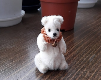 Mini Teddy bear 2.5 and 3 inches, handmade, author's toy, OOAK, artist teddy bear, stuffed plush animals, collectable jointed bear, unique