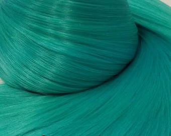Hatsune Green Teal Green Blue Nylon Doll Hair Re-rooting Re-Hairing Hank