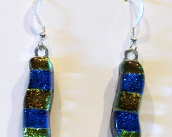 fused glass earrings E89