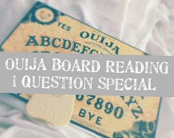 Ouija Board Reading One Question Special! Fast Response Same Day Accurate Spirit board Talking board Spirits and Angels