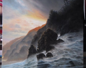 """Seascape painting oil painting on canvas 36""""X48"""""""
