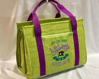 Ultimate carry all designer bag for sewing, quilting and crafts