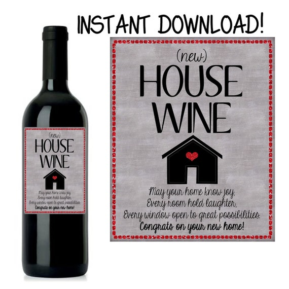 50 Of The Best Housewarming Gifts: House Warming Gift New Home Gift House Warming Wine Label
