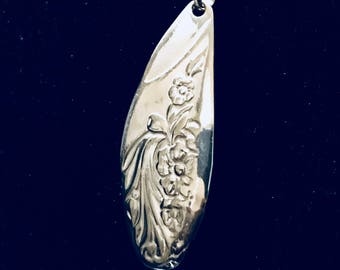 antique knife handle pendant silver plated