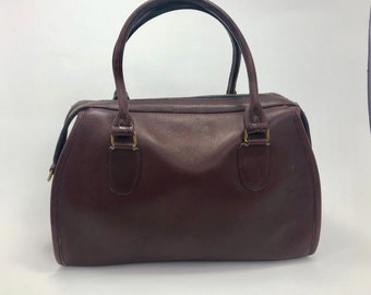Vintage Coach leather Burgundy bag and pouch