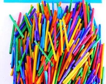 Matchsticks, Assorted Colours 500 pieces