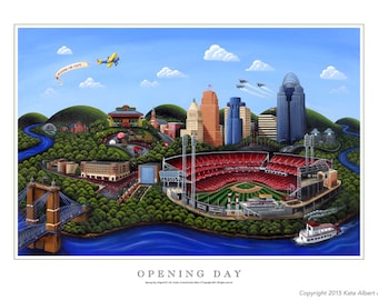 Opening Day - Limited edition print, signed and numbered by the artist