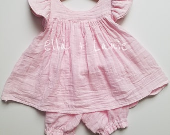 Pink Gauze Baby set