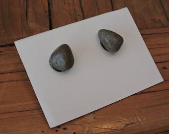 light river stone earrings