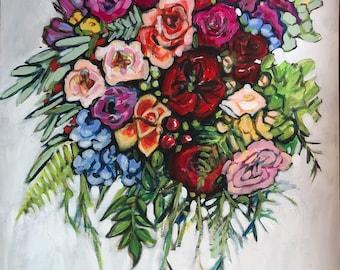 """Acrylic on canvas 28""""x36"""" 41/100"""