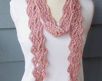 PATTERN S-031 / Crochet Pattern / Jewel Scarf ... worsted 75-85 yards