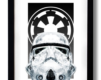 Star White Empire Art Print by RUBIANT